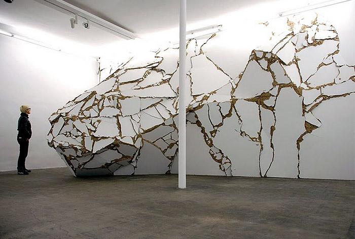 White Wall Art Installation 89