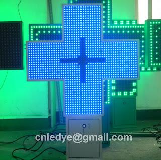 Croix vétérinaire LED, croix de pharmacie