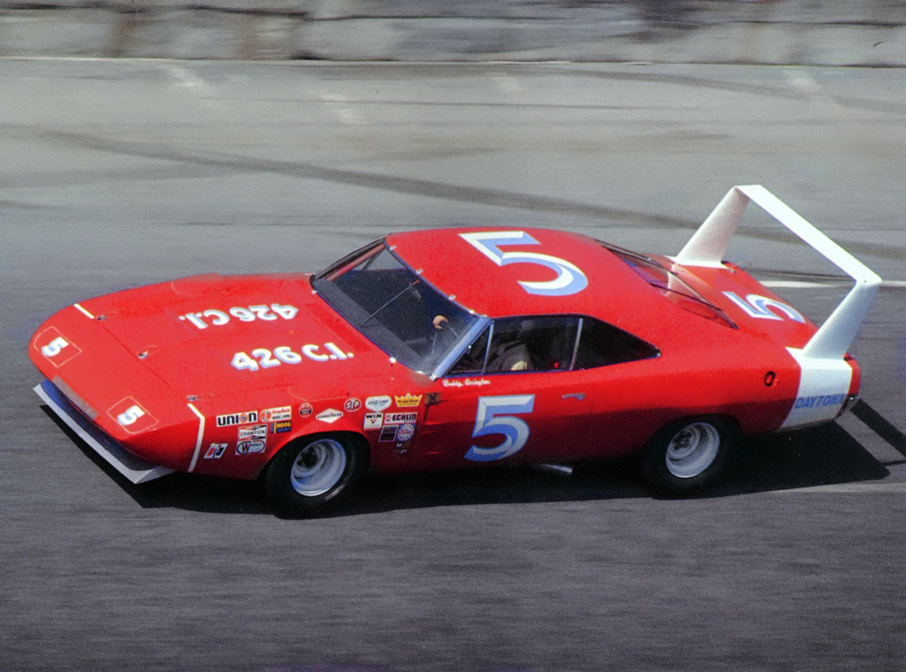 1969 dodge charger daytona nascar race car at speed driven by buddy. Cars Review. Best American Auto & Cars Review