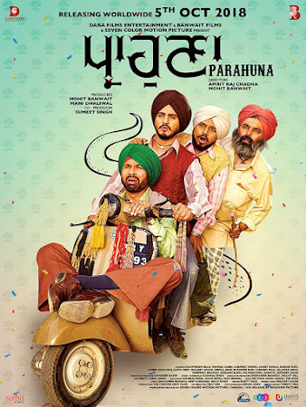 Poster Of Pollywood Movie Parahuna 2018 300MB PdvdRip 480P Full Punjabi Movie
