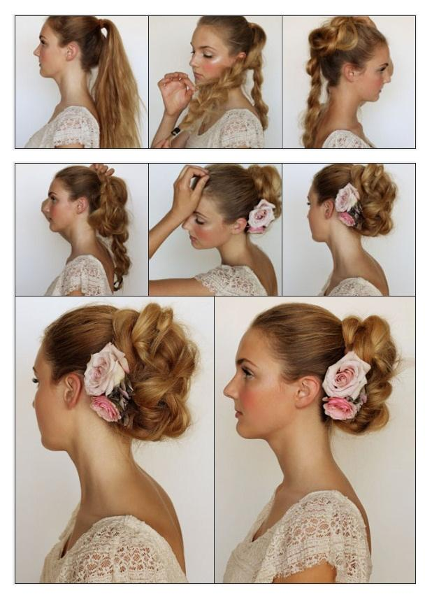 how to do twist hairstyles : New Short Hair Styles: How To Make a Messy Braided Bun