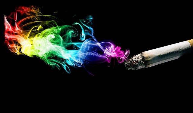renkli sigara dumanı rainbow colored cigarette smoke