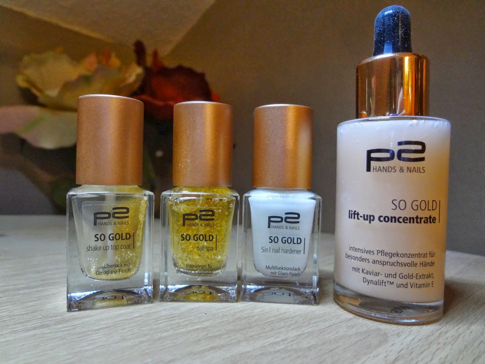 & plötzlich alles Lilablau: p2 So Gold Hand- und Nagelpflege