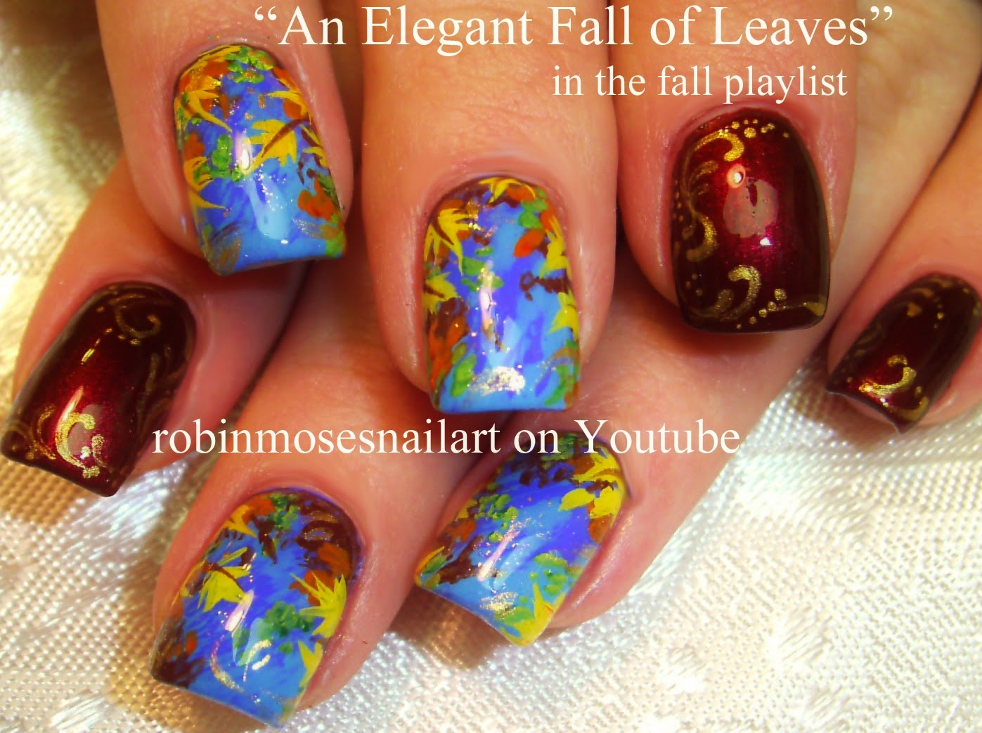 Robin moses nail art fall nails autumn nails nail art nail art tutorials fall nail art tutorial designs thanksgiving nails prinsesfo Gallery
