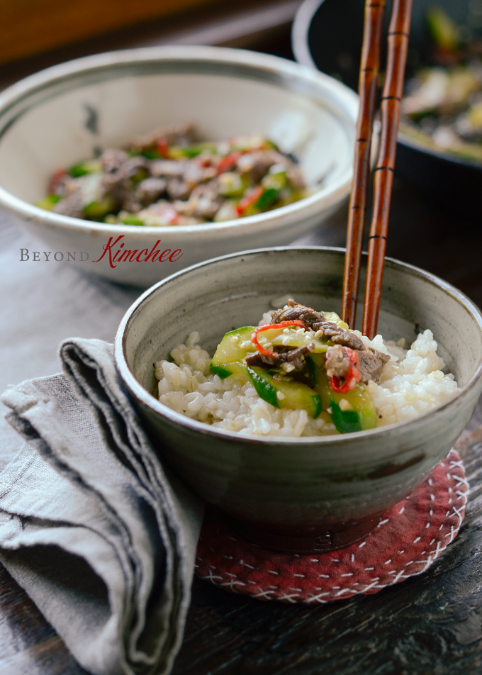 [Korean Recipes] Beef and Cucumber Stir-Fry - All Asian ...