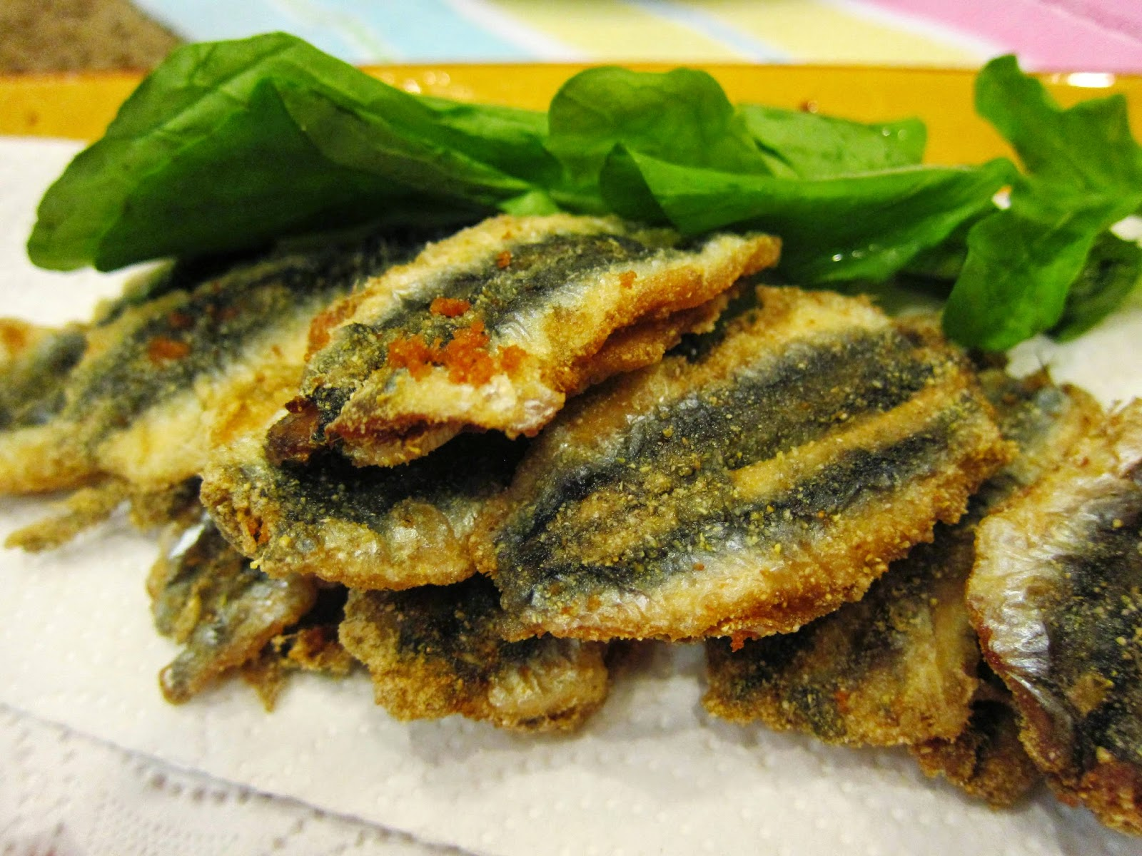 fried anchovies/ hamsi tava