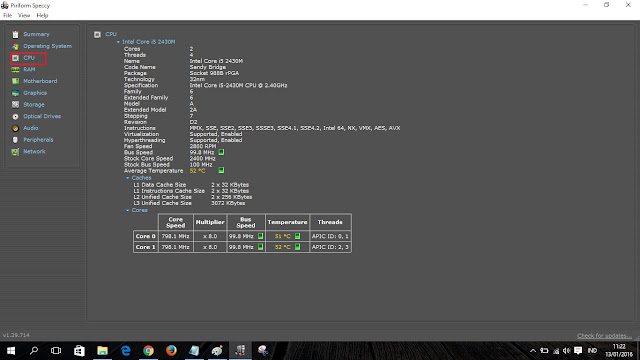 cek detail CPU windows