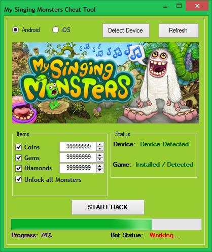 my singing monsters hack no survey no password online