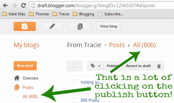 800 Blog Posts Screen Shot