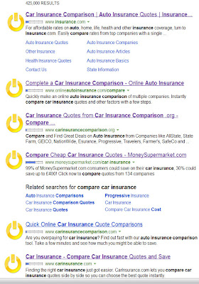 Bing auto insurance search