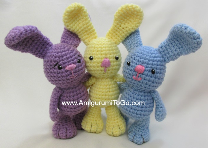 Amigurumi To Go Bigfoot Bunny : Little Bigfoot Bunny Revised 2014 Amigurumi Video Tutorial ...