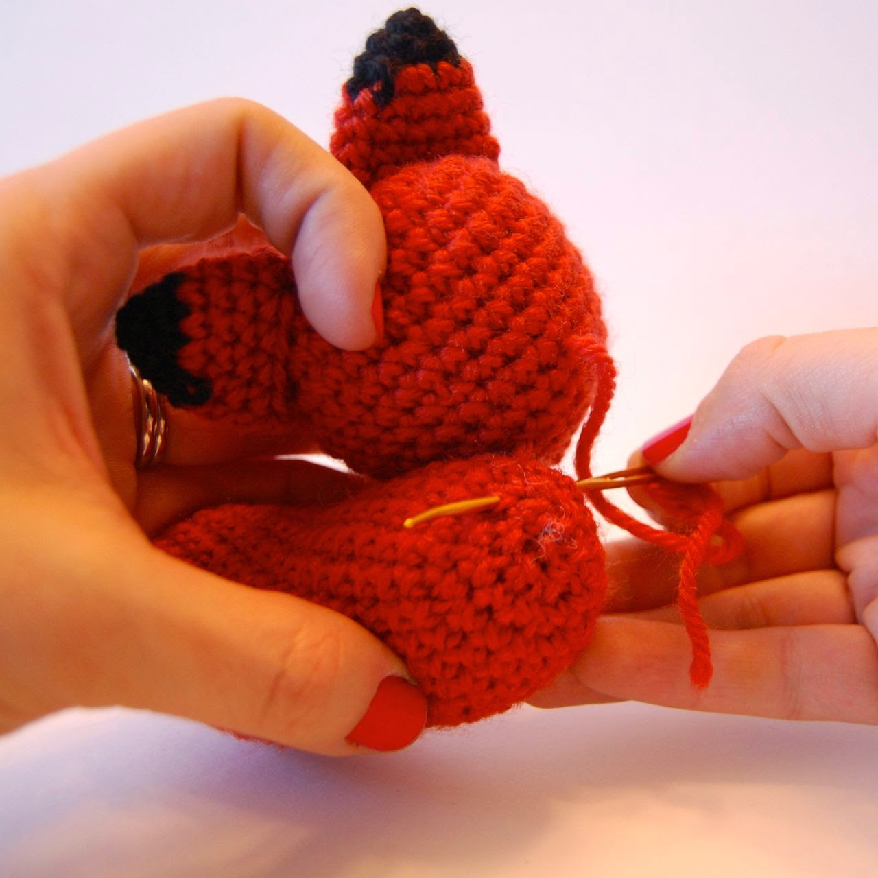 Amigurumi Yarn Michaels : CRAFTYisCOOL: Free Mother and Baby Fox Pattern
