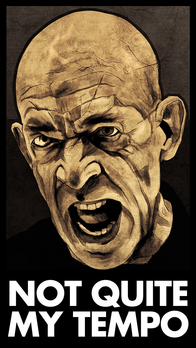 """JK Simmons """"Not Quite My Tempo"""" poster"""