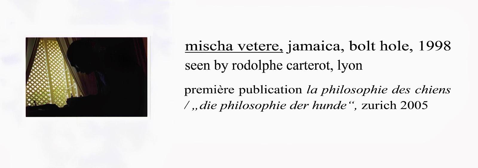 mischa vetere vu par rodolphe PORTRAIT Ibolt hole,jamaica - la philosophie des chiens 2005 LYon bml