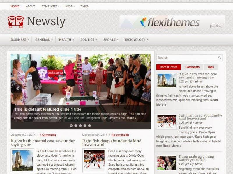 Newsly - Free Wordpress Theme