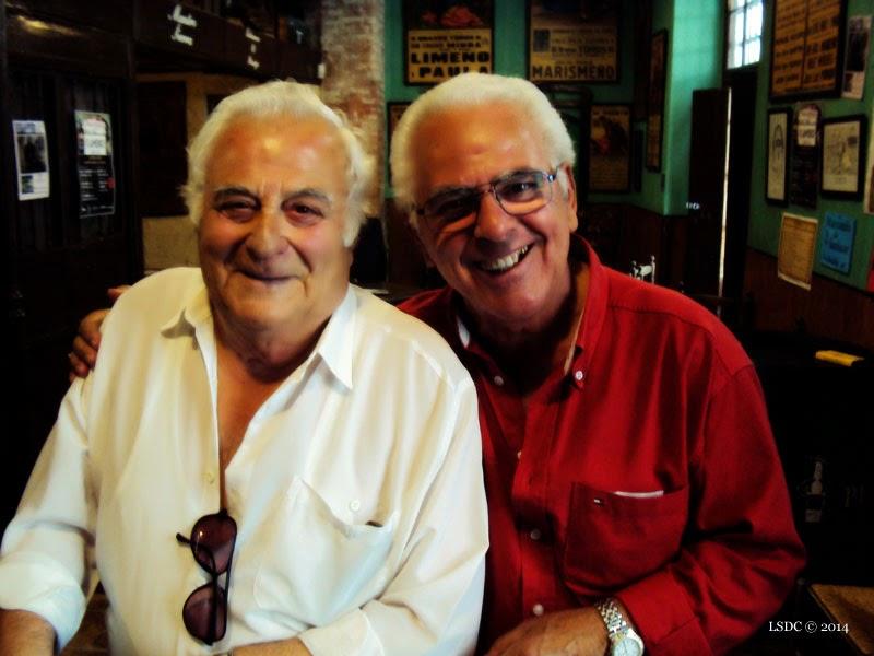 Enrique Romero y Francisco Zambrano (Kiki) en Tabanco el Pasaje