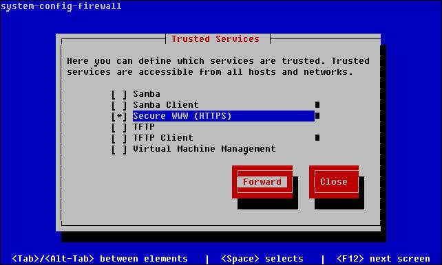 linux firewall settings