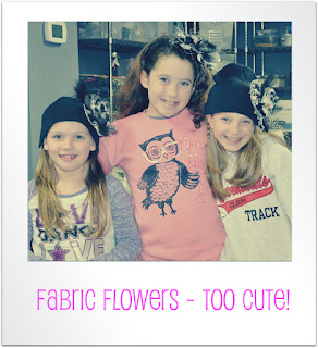 Spring Hats Fabric Flowers