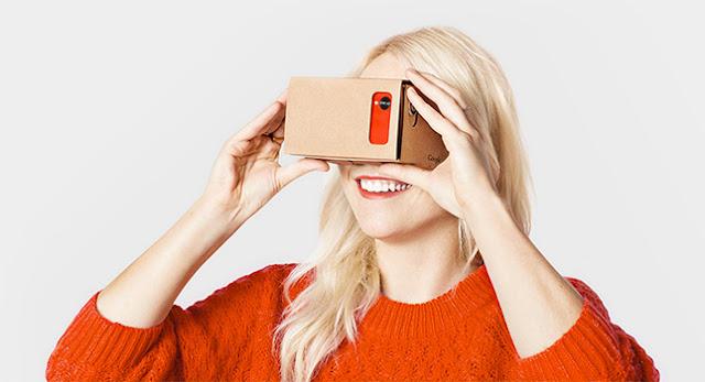 عرض محدود للحصول على نظارات Google Cardboard