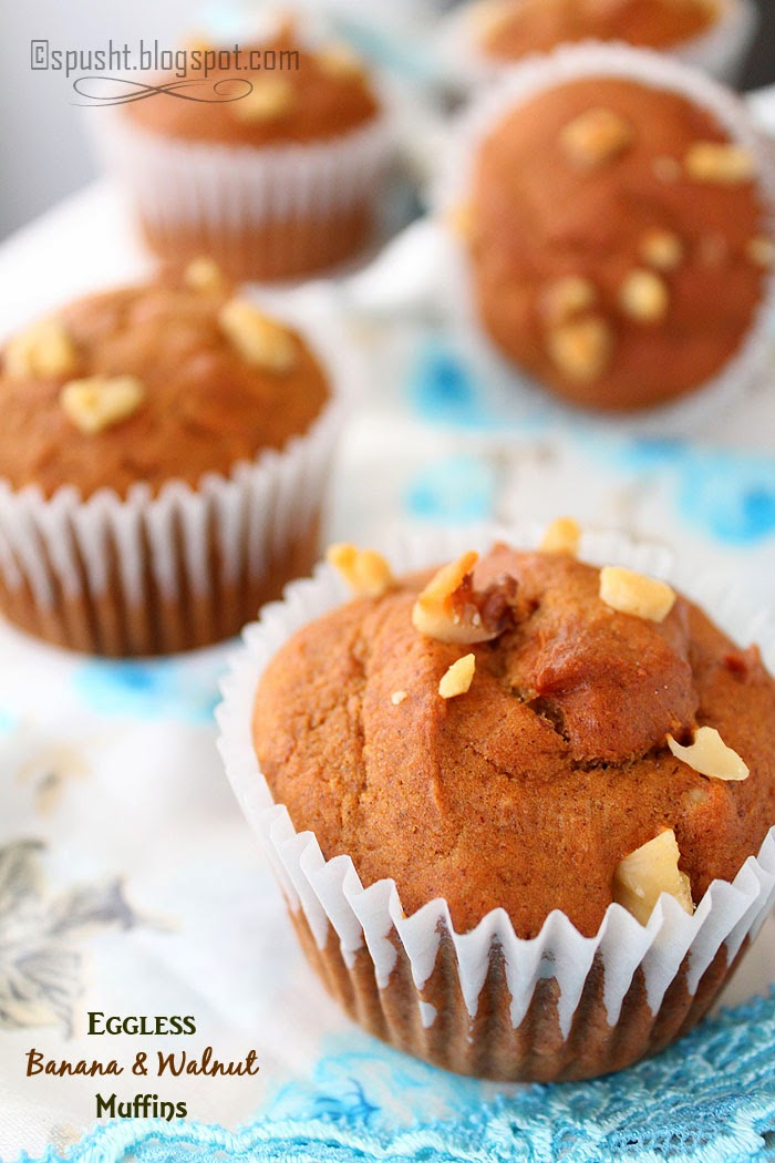 Spusht | Eggless Banana and Nuts Muffin