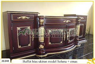 Buffet ukiran kayu jati model soluna