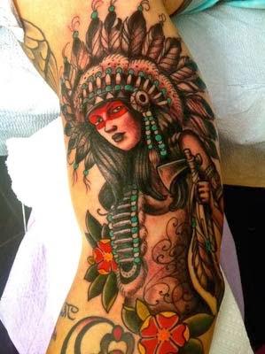 tatuagens de indias americanas lindas