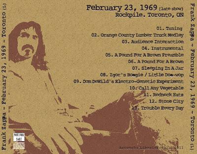 FZ 1969-02-23 Toronto - Late Show