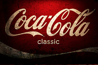 Coca Cola Classic Logo on Wall HD Desktop Wallpaper