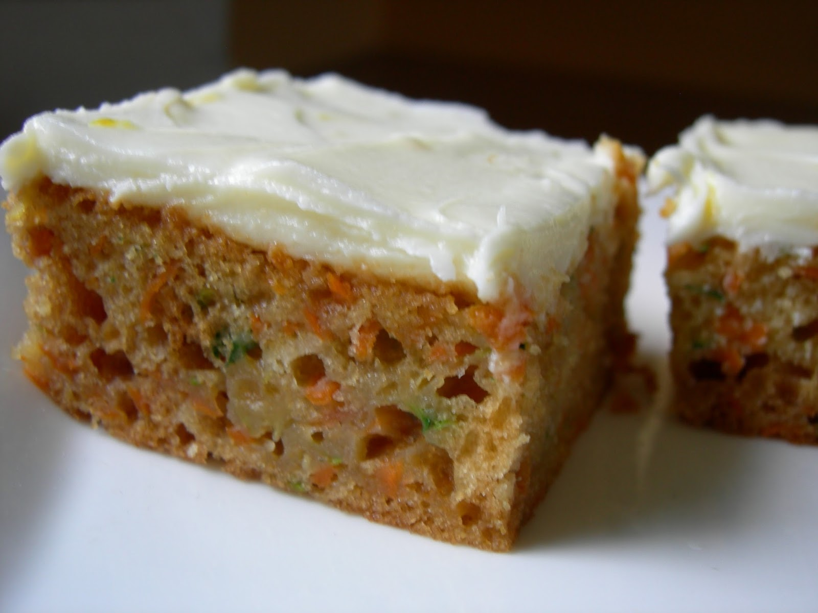 Loonies for Lindor: Carrot Zucchini Bars with Lemon Cream Cheese ...