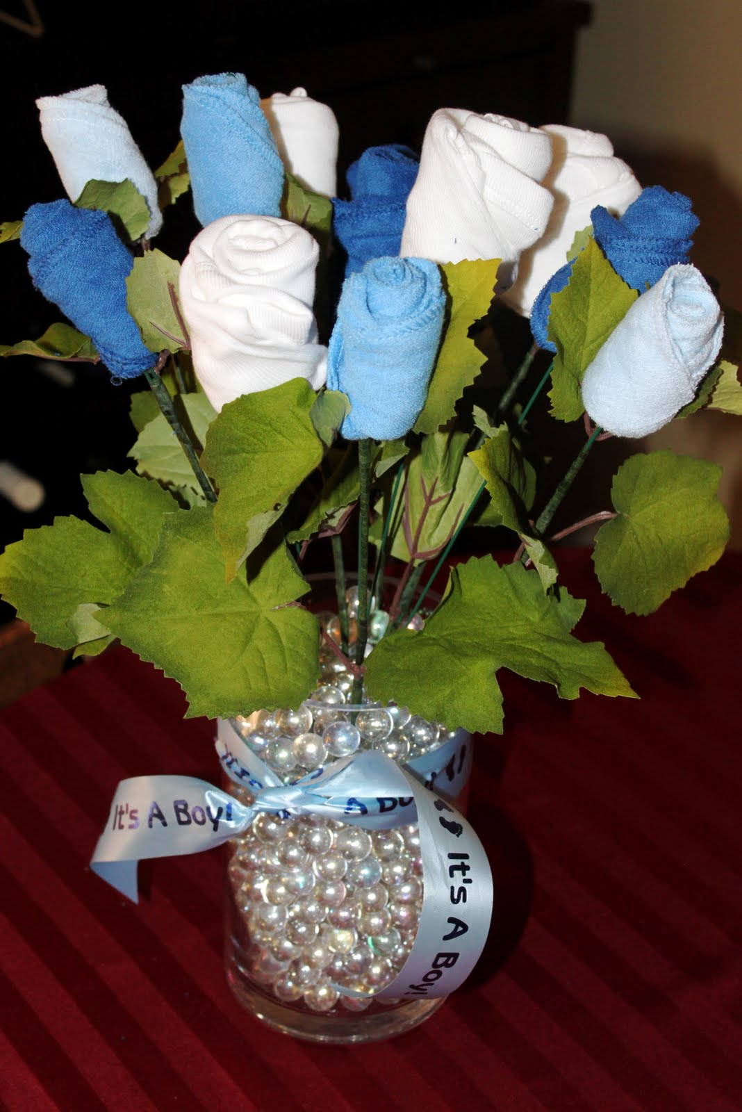 Industrious justice how baby washcloths socks onesies bouquet finished bouquet negle Gallery