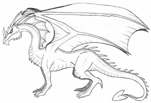 dragones para dibujar faciles