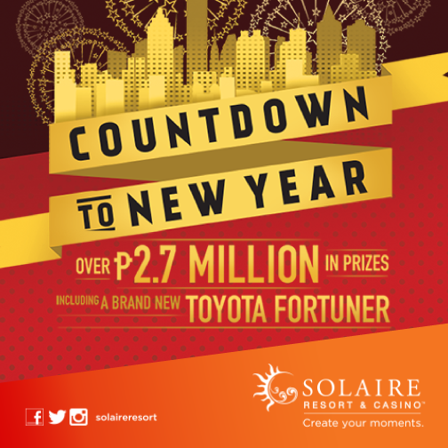 Solaire Holidays 2014 Countdown to New Year | December 31, 2014 8PM onwards