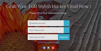 Get a Free 1GB @hacker Email