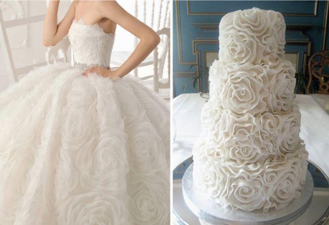 tartas de boda inspiradas en vestidos de novia ideas originales