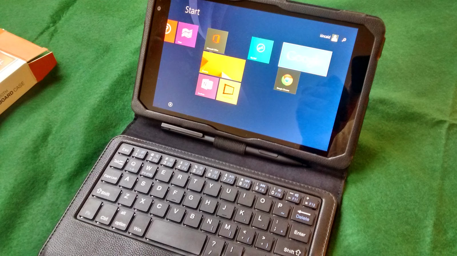IVSO KeyBook Bluetooth Keyboard Case for DELL Venue 8 Pro Tablet