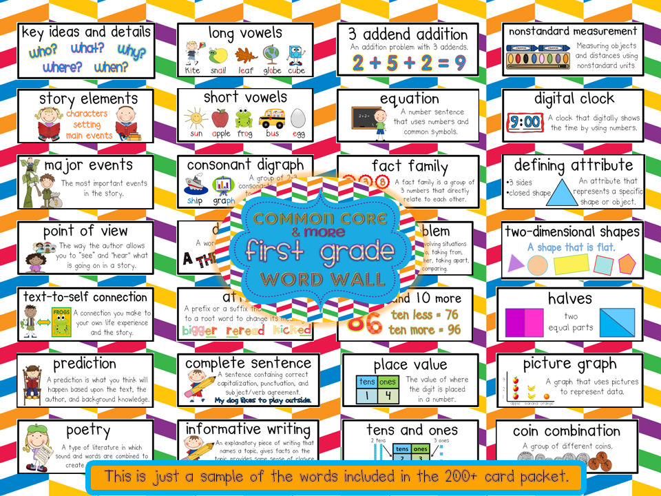 Crazy for First Grade: Common Core & More Word Wall Fun!!!