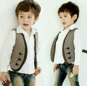 gambar anak kecil laki-laki keren pakai baju putih
