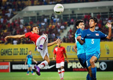 Kalahkan Singapura, Indonesia bertengger di urutan ketiga AFC U-22