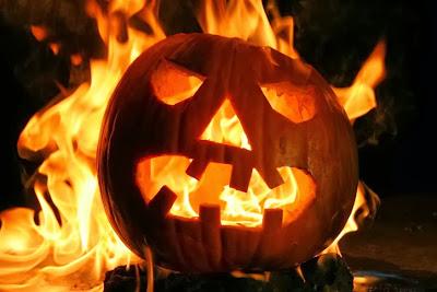 Flaming Jack-o-lantern