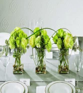 Green Wedding Flowers Centerpieces
