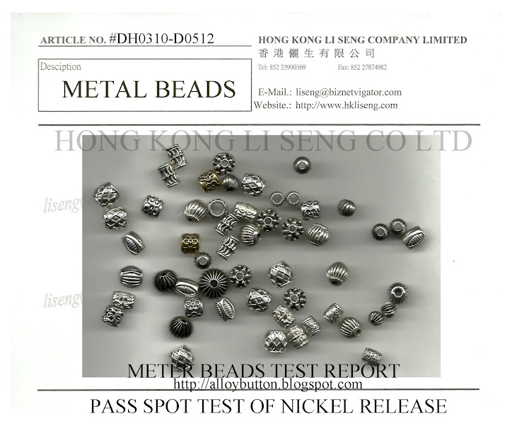 Pass on Spot Test of Nickel Release Metal Beads