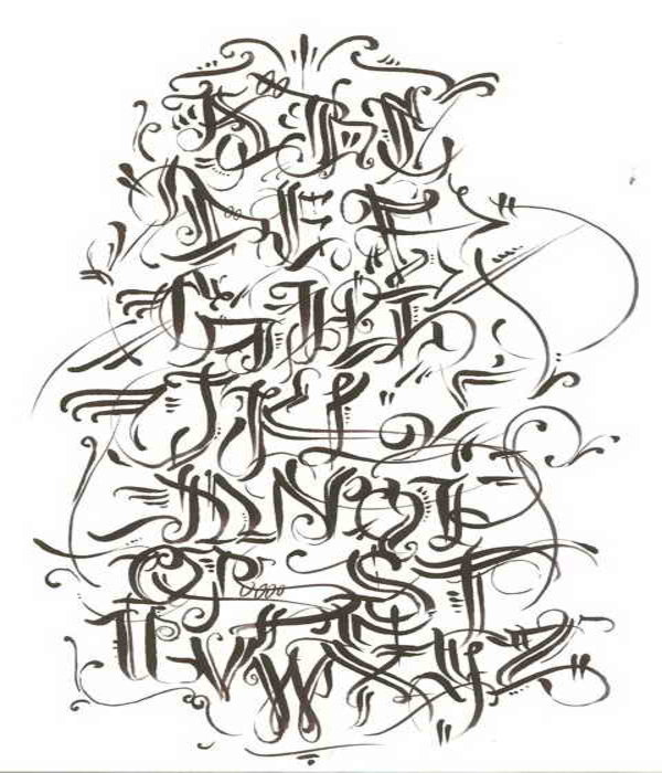 Gips 4 Style Of Tag Graffiti Letters A Z