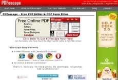 Editor de pdf online PDFescape