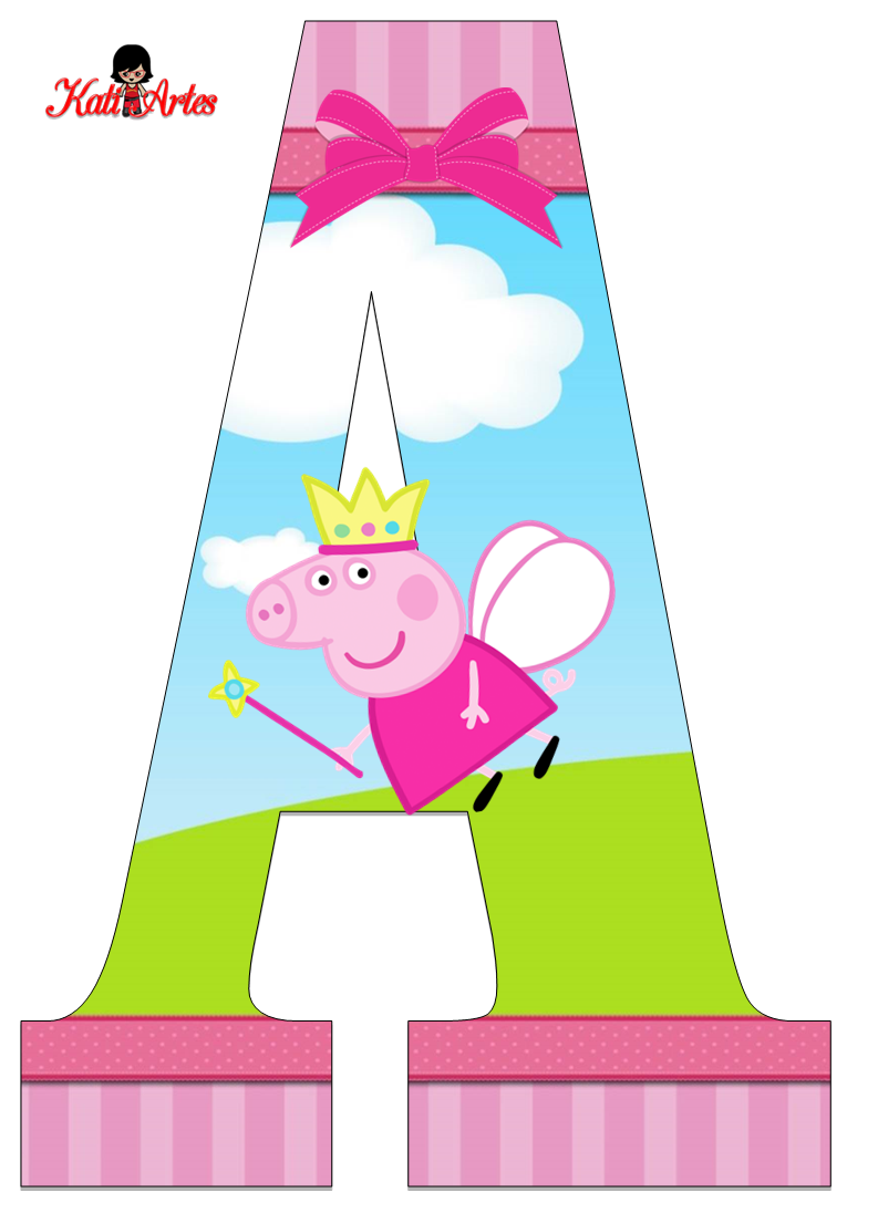 Peppa Pig Letters