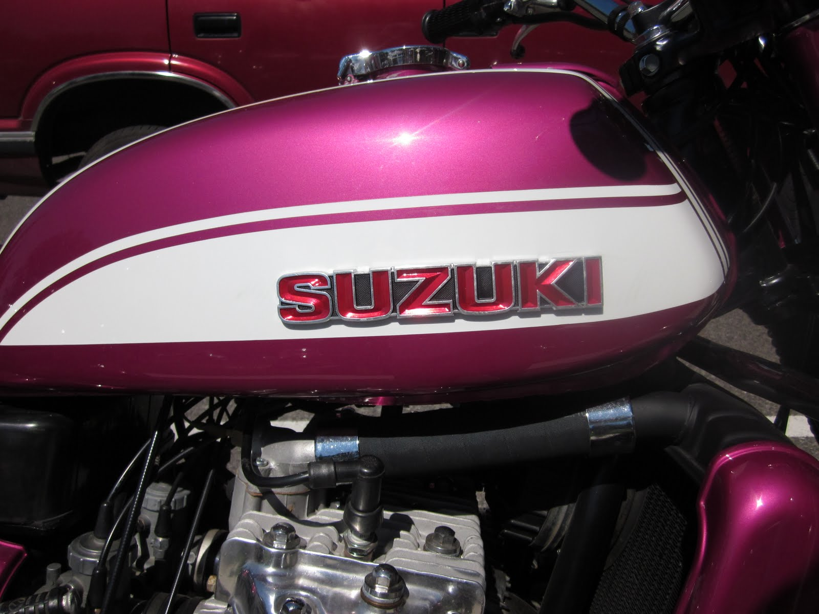 OldMotoDude  Suzuki GT750 Water Buffalo   Show N Shine for Hunger