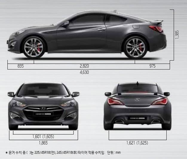 Kích Thước Xe Genesis Coupe 2014,Xe Genesis Coupe 2014