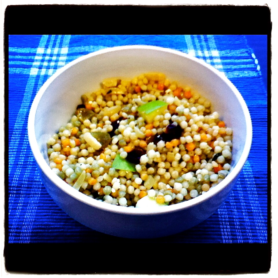 ... Israeli Couscous Salad with Meyer Lemon-Maple Vinaigrette...Featuring