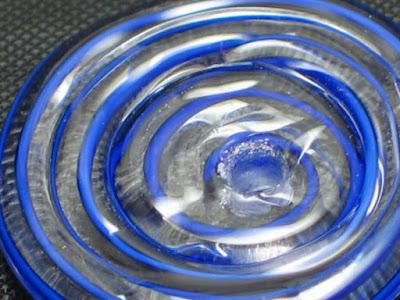 Blue swirl glass bead by Karla Eames Classy Sassy Glass