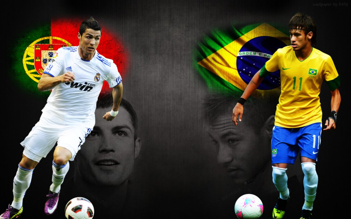 View Neymar VS Ronaldo Wallpaper   Download Neymar VS Ronaldo