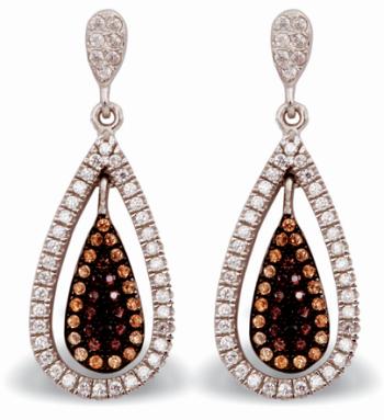 Tanya Rossi Brown Crystals Dangler Earrings TRE 498 Rs 3000
